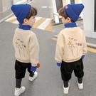 寶寶加絨加厚套裝男童洋氣兩件套衛衣小童1-7歲4秋冬裝帥氣童裝潮