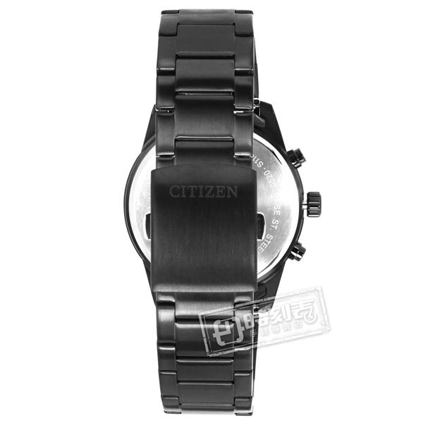CITIZEN 星辰表 / AN8167-53X / 羅馬刻度 三眼計時 日期 夜光指針 不鏽鋼手錶 葡萄紫x鍍深灰 44mm