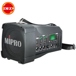 MIPRO 嘉強 MA-100DB UHF雙頻道 內建USB (新寬頻)攜帶式無線喊話器 可搭無線麥克風/領夾 取代MA-100du