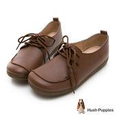 Hush Puppies Grebe 柔軟皮質休閒鞋-咖啡