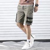 五分褲寬鬆直筒潮牌男士休閒中褲潮流五分褲夏天薄款  【熱賣新品】