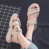 平底涼鞋 涼鞋女平底ins潮女士百搭 夏季 網紅超火時尚運動 沙灘鞋‧時尚