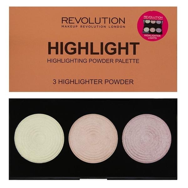 英國 Makeup Revolution Highlighter Palette 3色高光修容盤