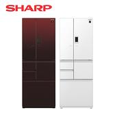 [SHARP 夏普]502公升 六門對開冰箱 SJ-GX50ET-R/W