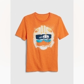 Gap男童Star Wars星球大戰系列棉質舒適圓領短袖T恤539434-深木瓜黃