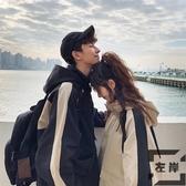 韓版情侶裝bf風連帽夾克男運動潮流工裝加厚外套【左岸男裝】
