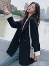 韓版2020女士新款西裝外套女秋冬黑色英倫風小西服套裝網紅上衣潮 依凡卡時尚