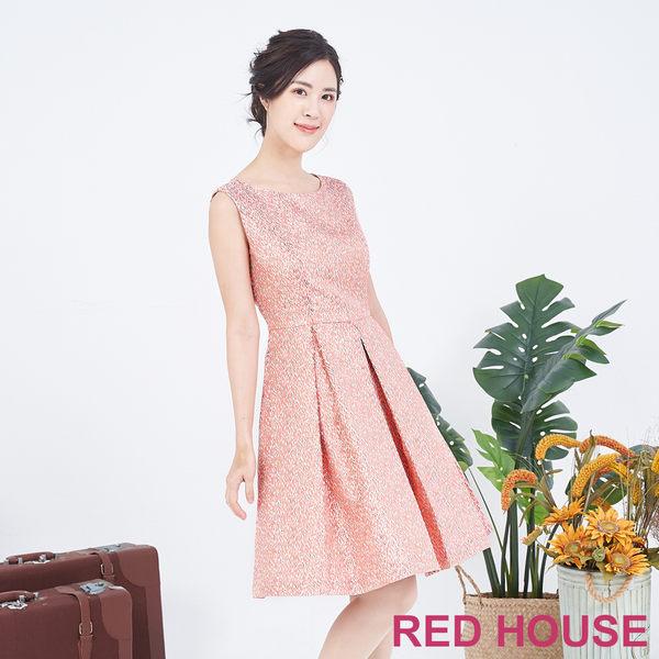 RED HOUSE-蕾赫斯-無袖繽紛洋裝(亮橘色)