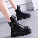 短靴馬丁靴女春秋單靴增高網紅休閒短靴ins潮2021年新款厚底顯瘦潮