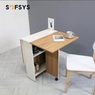 摺疊餐桌 家用 餐桌小戶型 桌長方形餐桌吃飯桌可伸縮 MKS薇薇