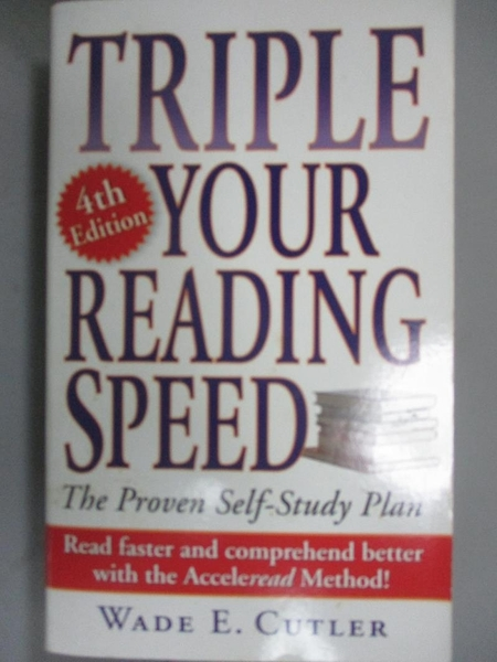 【書寶二手書T2/財經企管_G5Q】Triple Your Reading Speed_Cutler, Wade E.