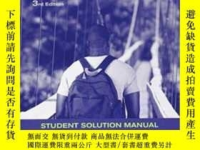 二手書博民逛書店Student罕見Solutions Manual To Accompany Trigonometry 3eY