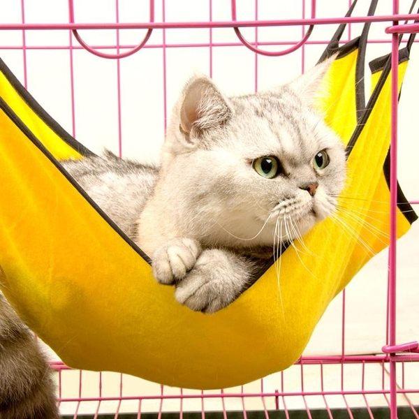 寵物吊床-寵物貓籠吊床貓墊貓窩貓床  貓咪床倉鼠龍貓鬆鼠貂床墊鐵籠吊床【端午節好康89折】