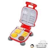 彩泥兒童橡皮泥無毒太空超輕黏土漢堡機玩具【樂印百貨】