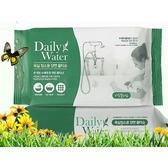 韓國 Daily Water 拋棄式雙面菜瓜布濕紙巾(40抽)【小三美日】浴廁用