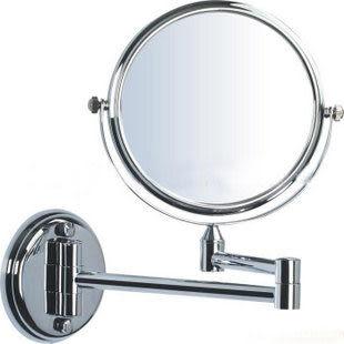 可伸縮掛壁式浴室雙面化妝鏡