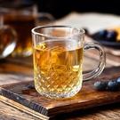 酒杯 玻璃杯套裝家用客廳水杯子啤酒杯加厚耐熱帶把喝水茶杯家庭【快速出貨八折鉅惠】