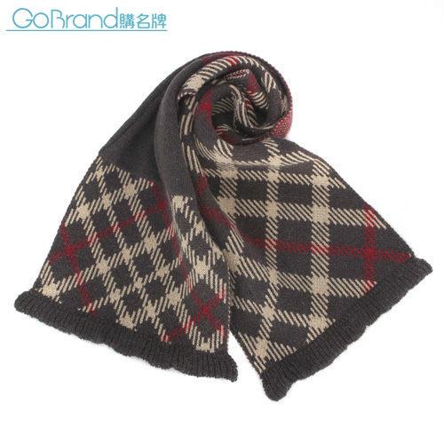 DAKS 經典格紋羊毛混織圍巾(鐵灰色)239333-2