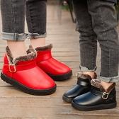 兒童雪地靴女童短靴子小寶寶鞋冬季新款加絨防水防滑男童保暖棉鞋 艾瑞斯