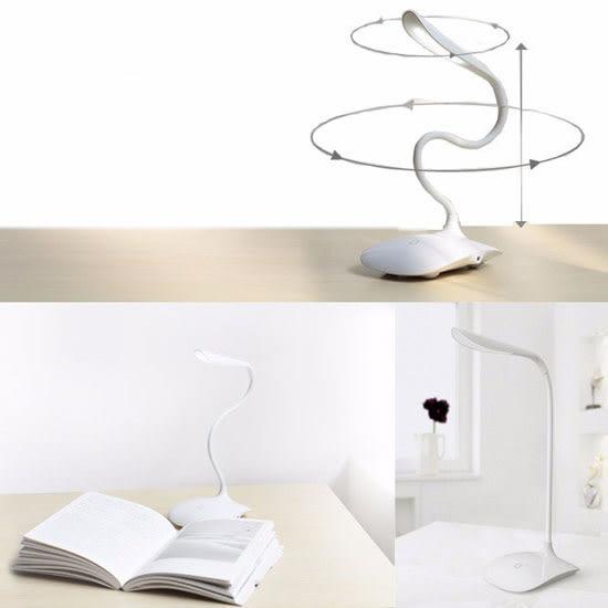 【LED】三段觸控無線檯燈/USB充電/台燈/桌燈/檯燈/閱讀燈/小夜燈/摺疊/彎曲