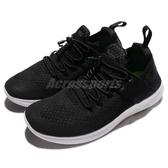 Nike 慢跑鞋 Free RN CMTR 2017 黑 白 特殊鞋帶設計 襪套式 赤足 女鞋【PUMP306】 880842-003