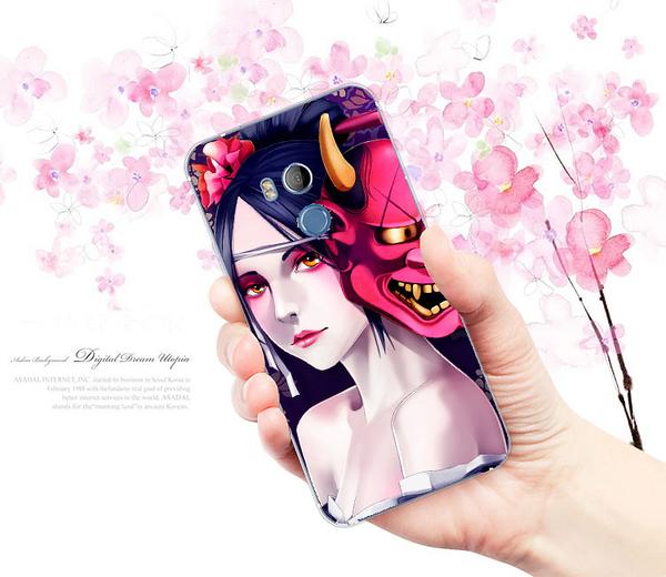 [u11eyes 軟殼] HTC U11 EYES HTC_2Q4R100 手機殼 保護套 外殼 美女般若惡鬼
