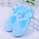 洞洞鞋女涼鞋平底果凍鞋孕婦鞋沙灘鞋女夏季防滑護士鞋果凍鞋女