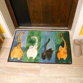 貓咪地墊廚房臥室衛浴浴室吸水防滑墊 門口進門入戶門墊門廳腳墊     古梵希igo