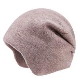 羊毛毛帽-護耳純色包頭毛線男針織帽4色73wj10[時尚巴黎]