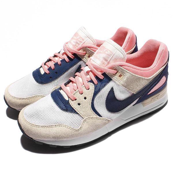 Nike 慢跑鞋 Wmns Air Pegasus 89 米白 藍 粉紅 麂皮 休閒鞋 女鞋【PUMP306】 844888-100
