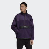 ISNEAKERS Adidas originals RYV 衝鋒衣 男款 紫 半拉鍊 長袖 ED7185 棉襖 愛迪達 高爾軒