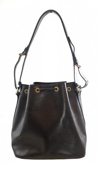 【雪曼國際精品】Louis Vuitton M40752 M EPI水波紋皮革束口水桶包.-二手8成新