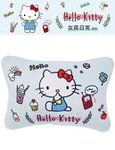 車之嚴選 cars_go 汽車用品【PKTD010B-04】Hello Kitty 女孩日常系列 座椅頸靠墊 護頸枕 頭枕 午安枕 1入