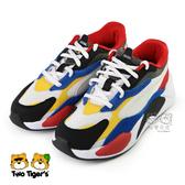 PUMA RS-X PUZZLE PS 紅藍白 鞋帶款 運動鞋 中童鞋 NO.R5130