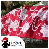 日本運動毛巾 : 唐獅子牡丹 34*95 cm (運動巾 頭巾 -- taoru 日本毛巾)