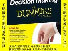 二手書博民逛書店Decision罕見Making For DummiesY410016 Dawna Jones ISBN:9