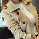 降價優惠兩天-裝雙排扣風衣女中長版正韓修身大尺碼外套女式大衣