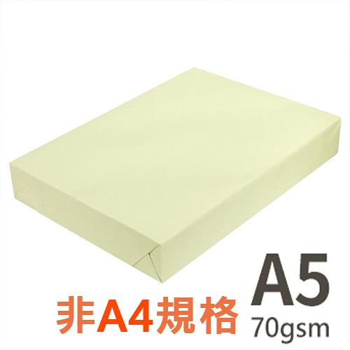 【品牌隨機出貨】 A5 70gsm 雷射噴墨彩色影印紙 淺黃 PL110 500張入x2包入 為A4尺寸的一半