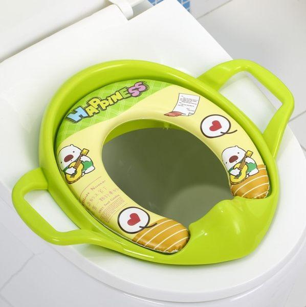 兒童馬桶座便器 嬰兒寶寶馬桶坐便圈小孩軟墊坐便器馬桶圈【維尼】