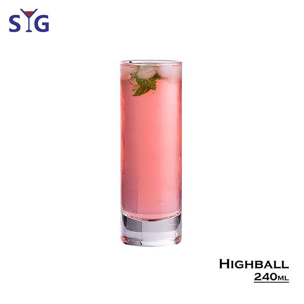 SYG Highball 240ml 水杯 酒杯 啤酒杯 飲料杯 玻璃杯 雞尾酒杯 海波杯 柯林杯