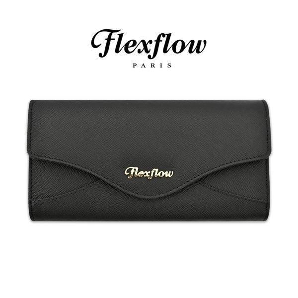 Flexflow-皮雅芙-Piaf-真皮防刮牛皮-蝴蝶三折長夾-磁扣對開式長皮夾-慕尼黑