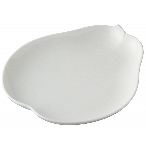 日本陶瓷【小田陶器】大 洋梨盤 西洋梨 日本製餐盤 白瓷盤 水果盤 餐具 盤子 碟子