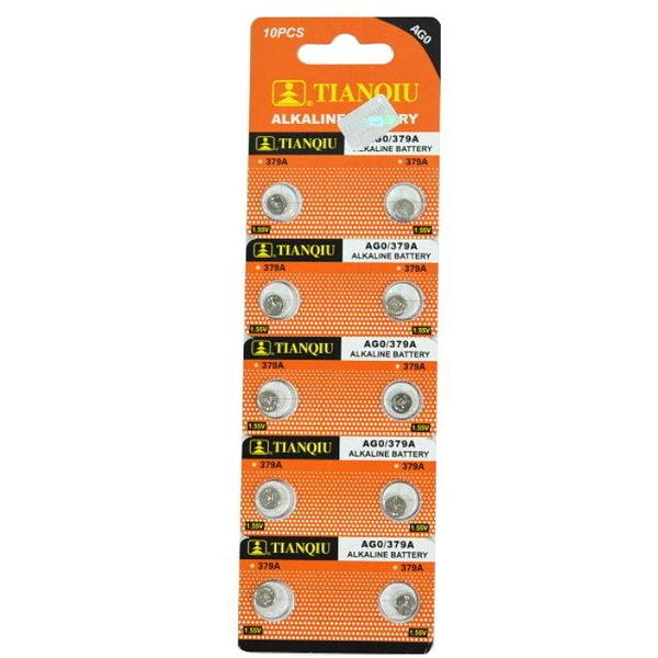 【GU310】環保型鈕扣電池/水銀電池AG0 379A LR521 LR63手錶電子(一卡10顆)~不拆售 EZGO商城