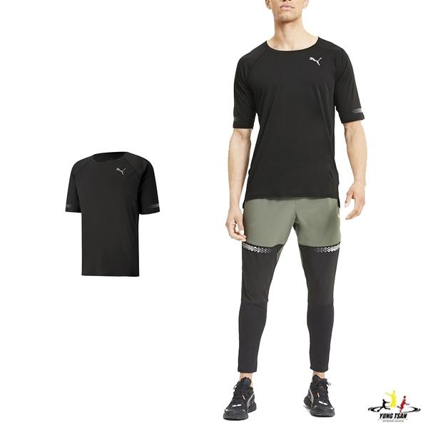 Puma Runner ID 男 黑 短袖 短tee 上衣 透氣 排汗 訓練 快乾 短袖上衣 51938001
