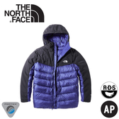 【The North Face 男 800FP局部防水羽絨外套《國旗藍》】3KTD/羽絨衣/保暖外套