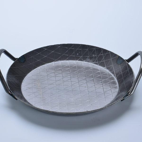 Turk 土克 熱鍛雙耳格紋鐵鍋 32cm 65932 德國製