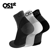 OS1st 足底筋膜壓力襪/壓縮短襪 FS4 (黑)