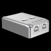 切换器 打印機共享器usb分線器2口轉換器兩臺共用切換器自動一拖二轉接頭 萬寶屋