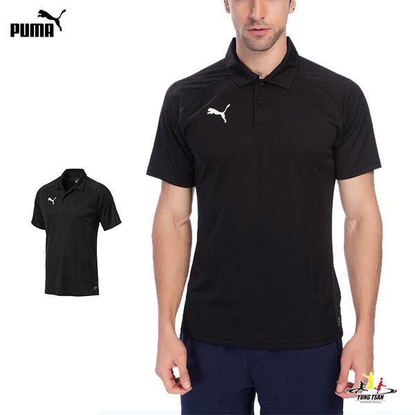 Puma 男 黑色 Polo衫 短袖 運動襯衫 聚脂纖維 短袖 短T 高爾夫 排汗 透氣 運動上衣 65560803