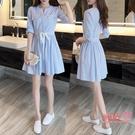 襯衫洋裝 女2020春夏季新款縮腰顯瘦氣質小香風襯衫裙子仙女超仙森系